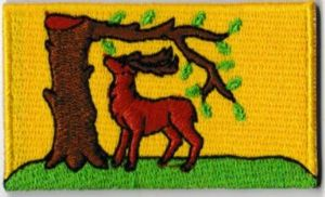 Berkshire Embroidered Flag Patch, style 04
